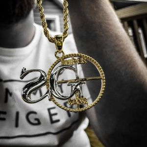 Silver & Gold Sniper Gang Necklace